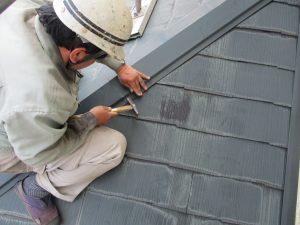 屋根板金棟補修 (3)