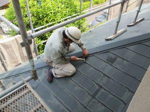 屋根板金棟補修 (2)